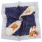 TRUSSARDI 飄洋藍圖海軍風帕巾(紫/藍)989045-25