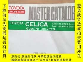 二手書博民逛書店TOYOTA罕見GENUINE PARTS MASTER CAT