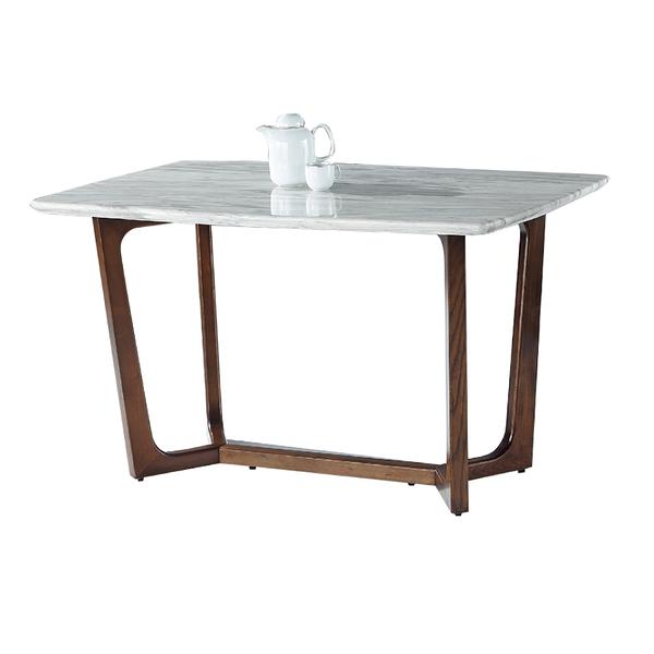 【采桔家居】米布法 時尚4.7尺雲紋石面餐桌(不含餐椅)