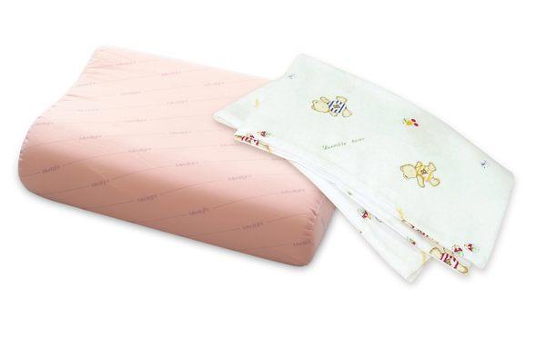 Medlight美德耐- 幼兒魔術方塊枕-橘色+漢堡熊枕套組合特價 *維康