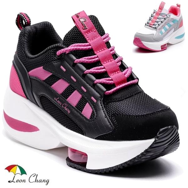 女款 Leon Chang 雨傘牌 7484 閃鑽迷人氣墊網布鞋 氣墊鞋 增高鞋 厚底鞋 健走鞋 休閒鞋 59鞋廊