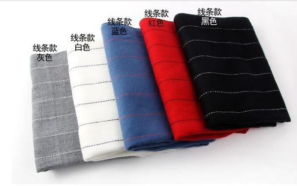 [協貿國際]秋冬季加厚長款仿羊絨披肩兩用條紋款