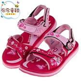 《布布童鞋》GP夢幻花園磁扣式桃色橡膠兒童運動涼鞋(19~23公分) [ G9B04BH ]