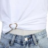 胸針 衣角打結扣胸針體T恤扣下擺打結扣環絲巾扣百搭開衫固定扣