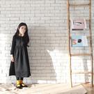 童裝 厚款棉絨大裙襬連身洋裝長裙 親子裝...