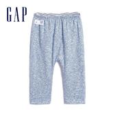 Gap嬰兒 柔軟舒適正反兩穿鬆緊長褲 592526-鈷藍色
