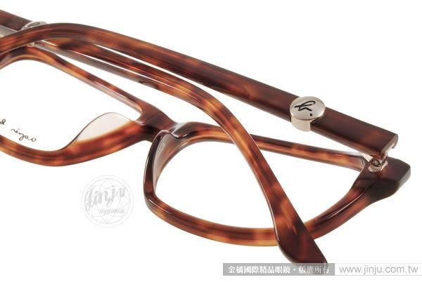 agnes b.光學眼鏡 ABP242 Y04 (咖啡棕) 經典LOGO鑲嵌小扣簡約別緻款 平光鏡框 # 金橘眼鏡