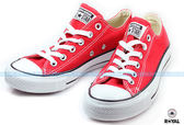 CONVERSE 新竹皇家 ALL STAR CTAS  紅色 布質 低筒 基本 帆布鞋 男女款 NO.A4109