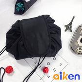 抽繩化妝包化妝袋抽繩包大容量防水收納包化妝品收納J4011 021 ~艾肯居家 館~