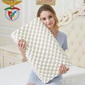 天然大顆粒乳膠枕頭枕芯按摩護頸枕頸椎枕酒店休息枕YYP町目家