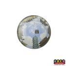 【收藏天地】台灣紀念品*水晶玻璃球冰箱貼-台北的天空