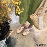 淺口單鞋女仙女復古芭蕾舞平底鞋
