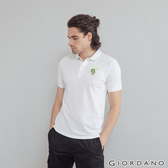 【GIORDANO】男裝麋鹿漸層刺繡短袖POLO衫 - 81 標誌白