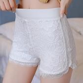 2019新款防走光高腰大碼安全褲女夏季胖mm200斤不卷邊蕾絲保險褲