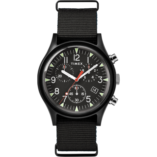 【TIMEX】天美時 MK1 潮流軍錶 三眼計時手錶(黑 TXTW2R67700)