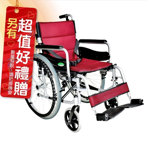 來而康 頤辰 機械式輪椅 YC-925.2 大輪 輪椅B款附加功能A款補助 贈 熊熊愛你中單