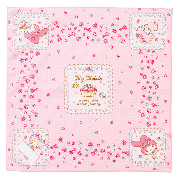 《Sanrio》美樂蒂日本製大面積布面餐巾(玫瑰花園)★funbox生活用品★ 497100N