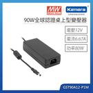 明緯 90W全球認證桌上型變壓器(GST90A12-P1M)