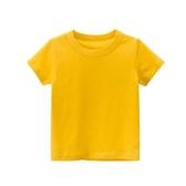童裝夏季2020款兒童短袖男童女童T恤定制純色無圖案寶寶上衣純棉 滿天星
