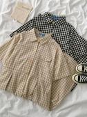 襯衫洋裝小眾設計感格子洋裝夏季2020年新款女裝韓版短袖中長款襯衫裙潮 JUST M