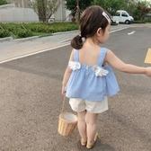 女童背心 小可愛夏季女童翅膀吊帶無袖薄款童裝卡通洋氣上衣-Ballet朵朵