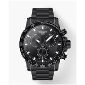 天梭TISSOT SUPERSPORT CHRONO 全新帥氣上市韻馳系列運動計時腕錶T125.617.33.051.00 黑