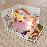 diy小屋手工制作小房子模型別墅拼裝玩具建筑送創意生日禮物女生