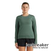 【icebreaker】Meteora Cool-Lite 女 圓領短版長袖上衣GT130『鼠尾草綠』 羊毛 吸濕 排汗 抑味 0A59LE