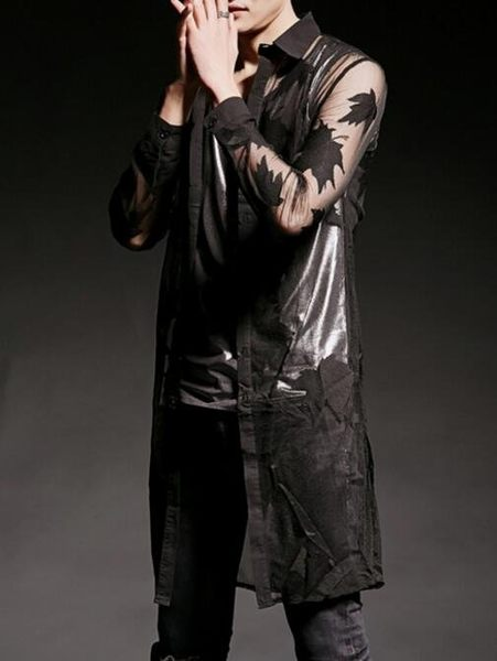 找到自己 韓國潮流 個性 透視感 楓葉 時尚 街頭潮男 夜店 DJ 發型師 必備 薄款特色外套