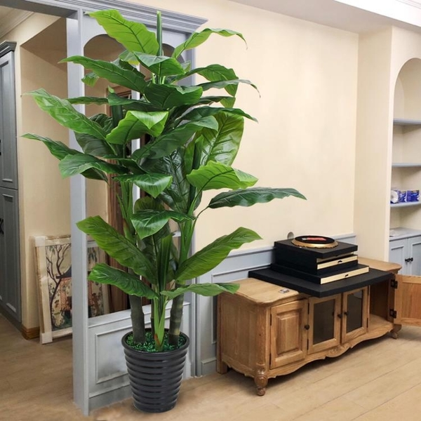 仿真植物假盆栽室內裝飾大型塑料綠植假樹客廳造景芭蕉樹落地假花 NMS 樂活生活館
