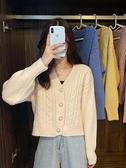 毛衣外套 寬松外穿V領慵懶風上衣女秋冬年新款韓版針織開衫毛衣外套女 風尚