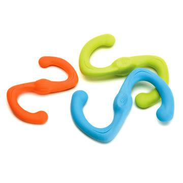 香桔士★【West Paw Design】耐咬玩具- Būmi® S型拉扯玩具-小