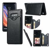 三星Galaxy Note 9 側翻手機殼 錢包插卡手機皮套 全包邊防摔手機套 磁鐵扣保護套 支架 PU皮料保護殼