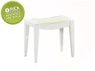 【YUDA】北歐風 微笑 方形 烤白 鏡檯化妝椅/房間椅/鏡檯椅 J0S 121-14