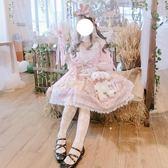 洋裝裙 日系洛麗塔阿爾克納之夢op重工華麗復古開襟蕾絲洋裝【兒童節交換禮物】