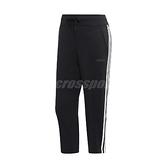 adidas 長褲 D2M 3S 3/4 Pant 黑 白 女款 七分褲 三條線 運動褲 愛迪達 【ACS】 DS8734