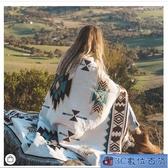 披肩幾何圖案復古波西米亞風沙發毯空調蓋毯針織線毯裝飾毯掛毯子 WJ3C數位百貨