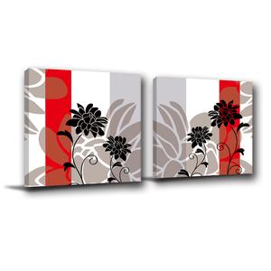 24mama掛畫-二聯式 花卉無框畫 民宿飯店設計 30x30cm