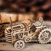 《 Robotime  》3D木製拼圖 -  LK401 牽引機╭★ JOYBUS玩具百貨