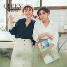 韓國選品系列 棉麻的面料穿起來舒服透氣 有領的無釦設計 更顯女性的率性魅力