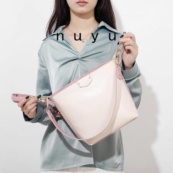 水桶包女2020大容量寬帶通勤斜背包網紅包包女簡約百搭潮春季新品