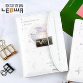 記事本 可愛公主筆記本子韓國小清新創意密碼鎖扣手帳本