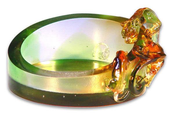 鹿港窯~居家開運琉璃煙灰缸【協躍龍】附精美包裝◆附古法製作珍藏保證卡◆免運費送到家