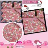Kitty『兩用被套+薄床包』(5*6.2尺)標準雙人100%超細纖維【蘋果派對】★台灣製造