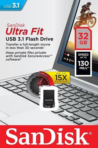 SanDisk 32GB 32G ultra Fit【SDCZ430-032G】130MB/s SD CZ430 USB3.1 隨身碟
