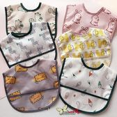 兒童口水巾防水圍嘴寶寶卡通圍兜男女寶寶免洗吃飯兜輕薄夏季  宜室家居