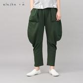 a la sha+a 大口袋設計感棉質七分褲