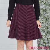 Red House 蕾赫斯-條紋剪接A字裙(共2色)
