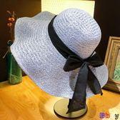 [Bbay] 草帽 日系 海邊 大沿盆帽 遮陽 防曬 太陽草帽 沙灘帽