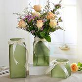 常青藤玻璃花瓶小清新花瓶彩色磨砂簡約客廳擺件辦公桌水培花瓶子 挪威森林